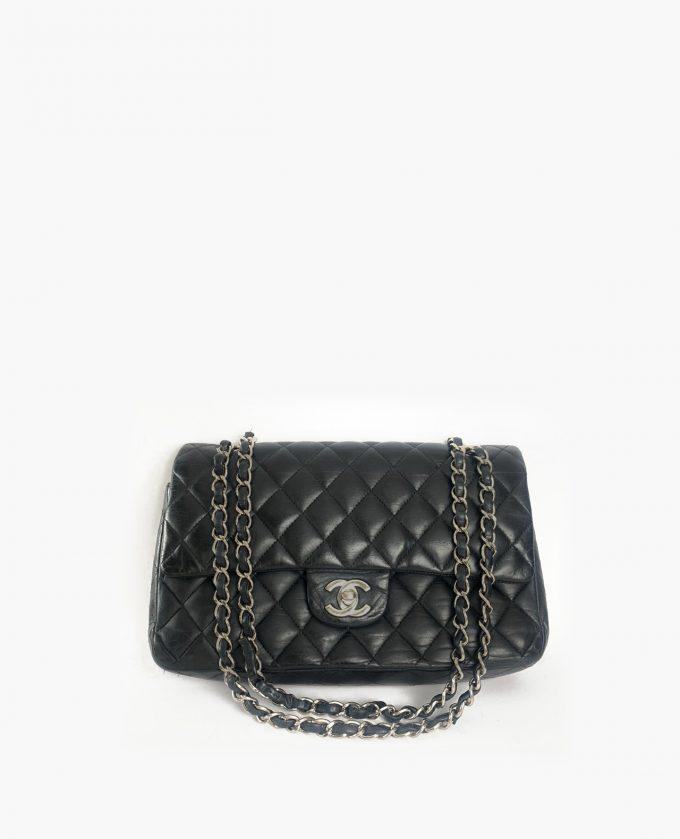 Chanel timeless medium lambskin black SHW
